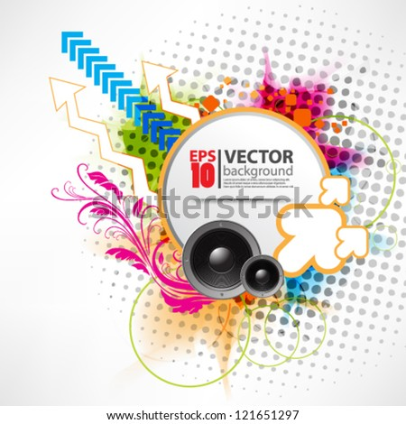 eps10 vector abstract grunge retro music background