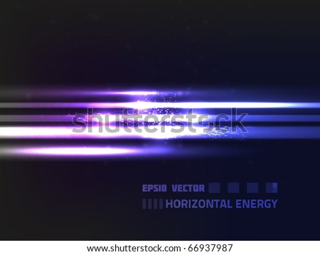 EPS10 vector abstract horizontal lines on dark background with slight texture; composition is very bright - stock vector