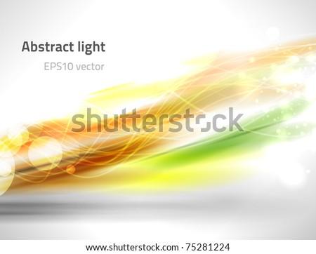 EPS10 vector abstract light - stock vector
