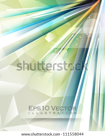eps10 vector abstract line burst illustration - stock vector