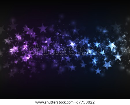 EPS10 vector abstract magic design against dark background; composition is colored in shades of violet and blue - stock vector