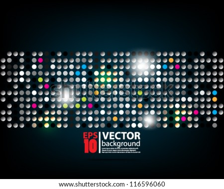 eps10 vector abstract mosaic background - stock vector