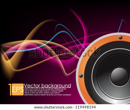 eps10 vector abstract  music background