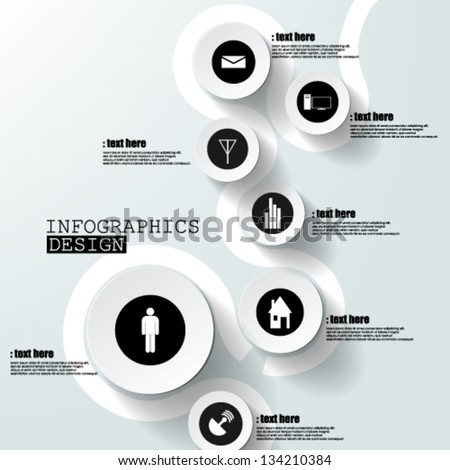 Eps10 Vector Abstract  Paper Infographics - stock vector