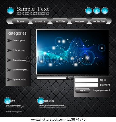 eps10 vector abstract website template design - stock vector