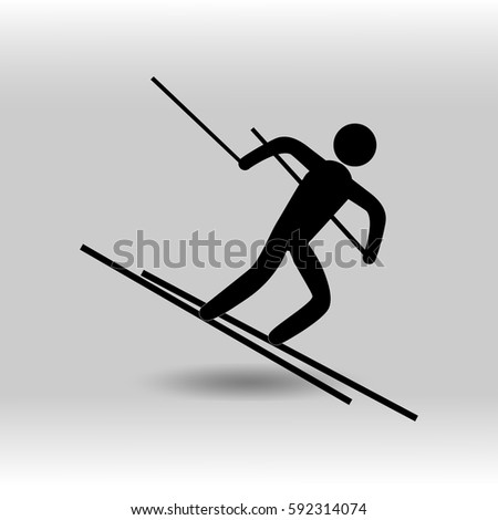 stick figure various sports on white stock vector