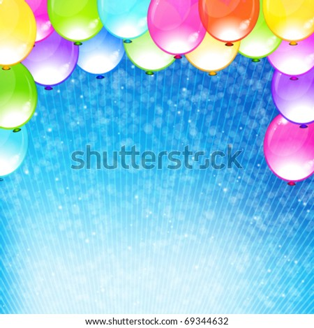 Eps10 vector beautiful funny party background. - stock vector