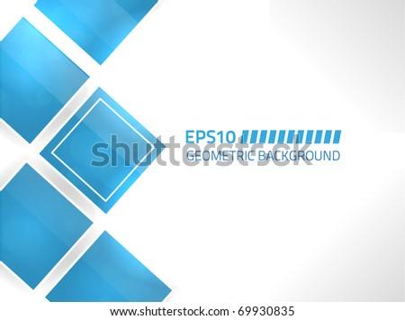 EPS10 vector blue geometric background design - stock vector