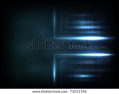 EPS10 vector blue techno - stock vector