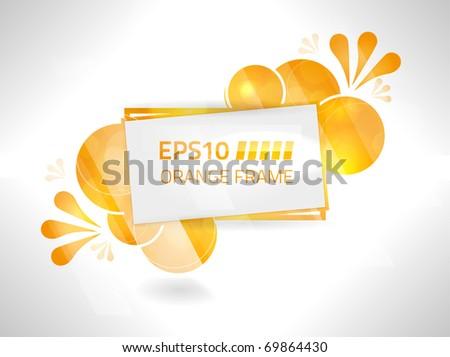 EPS10 vector bright orange frame design - stock vector