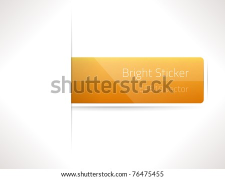 EPS10 vector bright sticker - stock vector