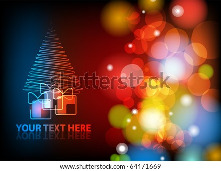 EPS10 vector Christmas or New Year abstract background. - stock vector