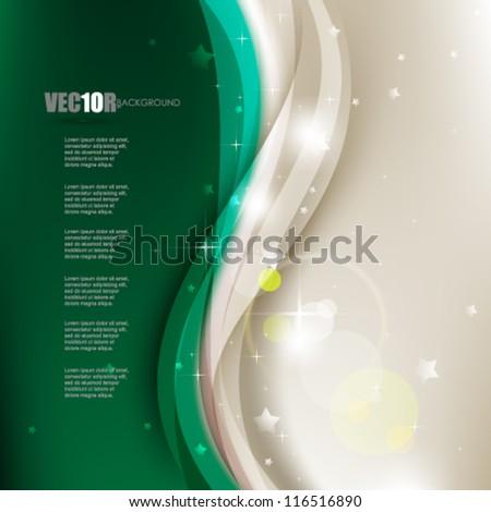 eps10 vector Christmas wave elements design - stock vector