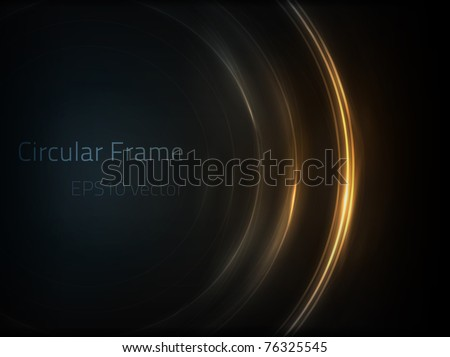 EPS10 vector circular frame - stock vector