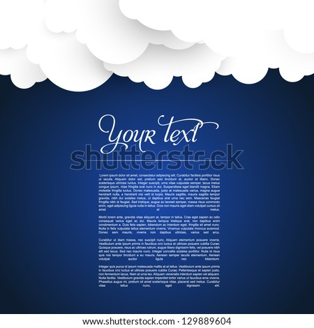 eps10 vector cloud illustration web template