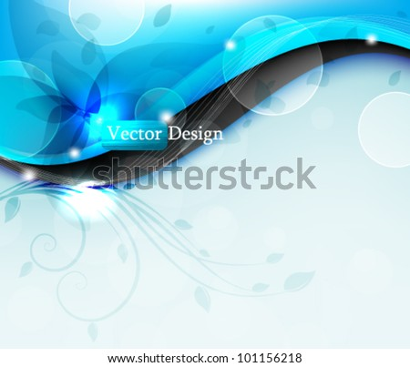 Eps10 Vector Colorful Abstract Flower Bursting Background Design - stock vector