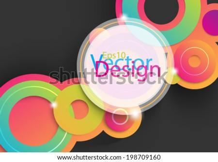 Eps10 Vector Colorful Circles for your Business background design - stock vector