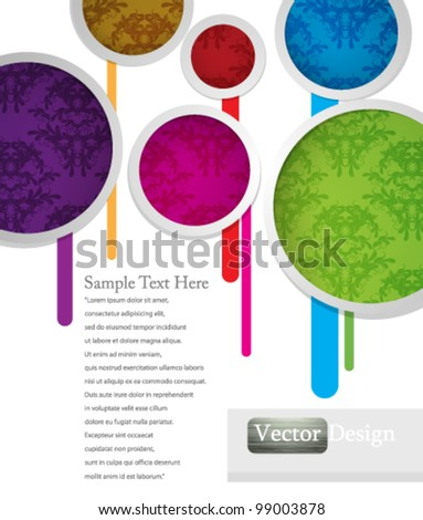 Eps10 Vector Colorful Modern Abstract Background Design - stock vector