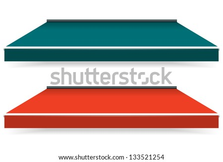 EPS Vector 10 - Colorful set of single color awnings - stock vector