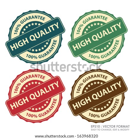 EPS10/Vector : Colorful Vintage Style High Quality Icon, Label or Sticker Set Isolated on White Background - stock vector