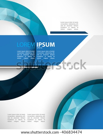 eps10 vector creative polygon elements marketing materials abstract template design - stock vector