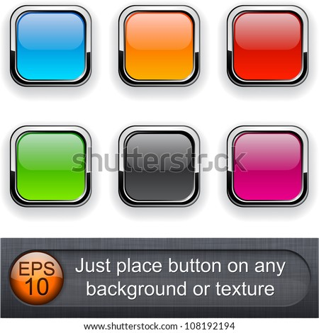 Eps10 vector. Different blending layer modes were used. You can easy place button on any background or texture. - stock vector