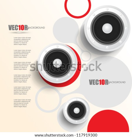 eps10 vector digital speaker concept design - stock vector
