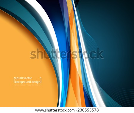 eps10 vector elegant blue wave concept business background - stock vector