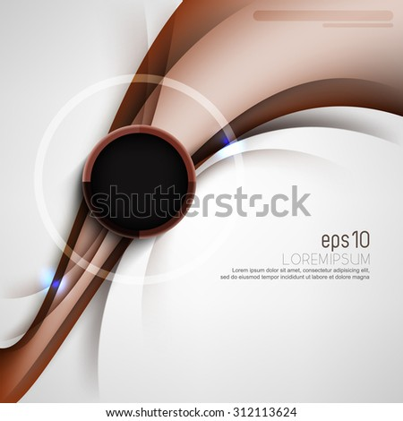eps10 vector elegant corporate business cover round ring frame elements template brochure leaflet background design - stock vector