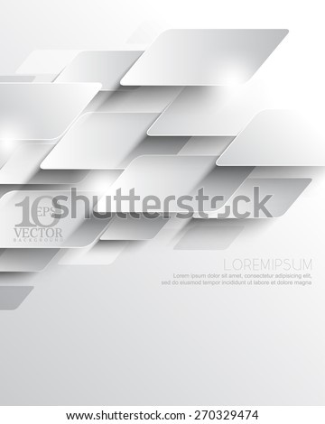 eps10 vector elegant metallic overlapping geometric elements corporate business background - stock vector