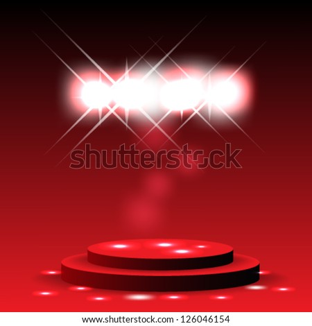 Eps10 Vector Elegant   stage with sparkles background design - stock vector
