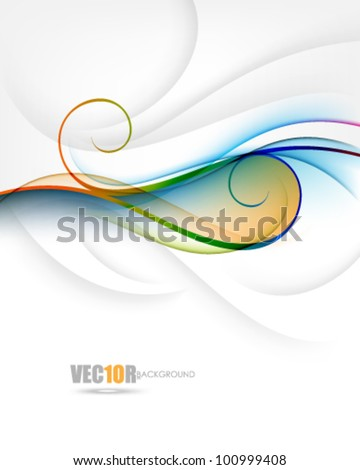 eps10 vector elegant twirl and wave concept design - stock vector
