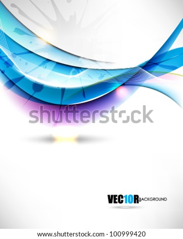 eps10 vector elegant wave and ink concept design - stock vector