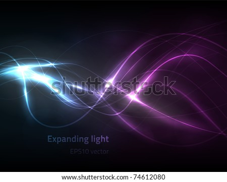 EPS10 vector expanding light - stock vector