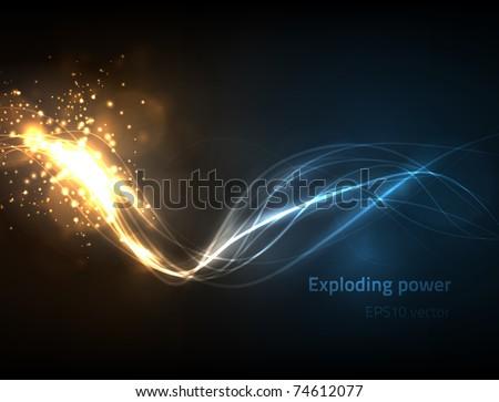 EPS10 vector exploding power - stock vector