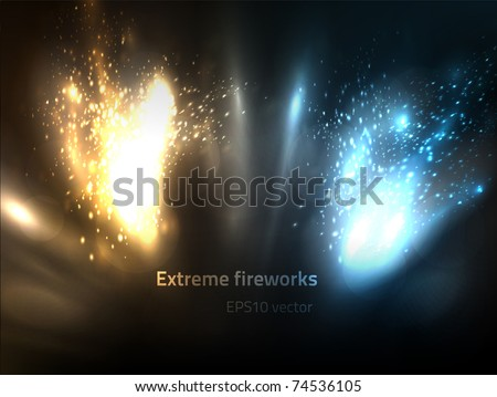 EPS10 vector extreme fireworks - stock vector