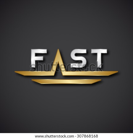 EPS10 vector FAST text icon - stock vector