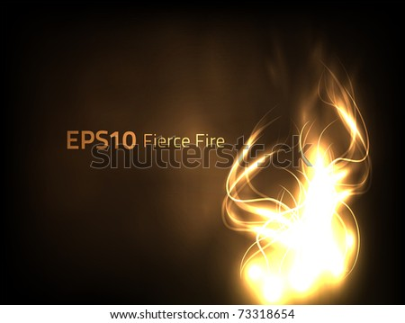 EPS10 vector fierce fire - stock vector