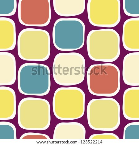 EPS 10 vector file. Seamless retro geometric pattern. Raster version available in my portfolio - stock vector