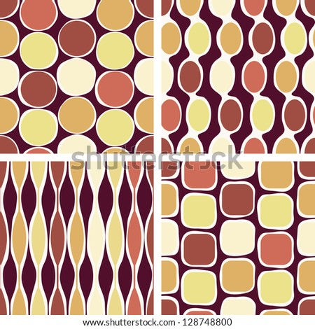 Eps10 vector file. Seamless retro geometric pattern. Raster version available in my portfolio - stock vector