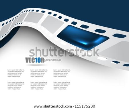 eps10 vector film reel background design - stock vector