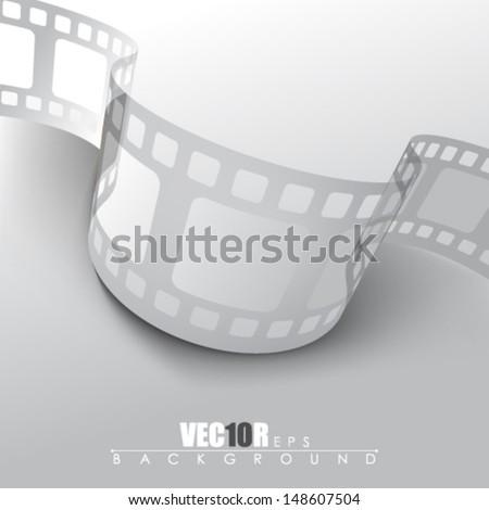eps10 vector filmstrip design - stock vector