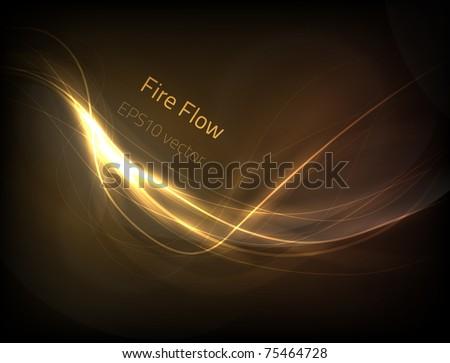 EPS10 vector fire flow - stock vector