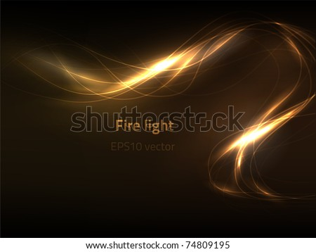 EPS10 vector fire light - stock vector