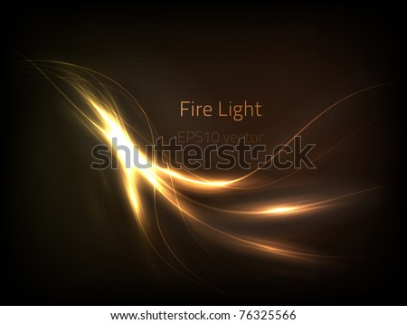 EPS10 vector fire light - stock vector