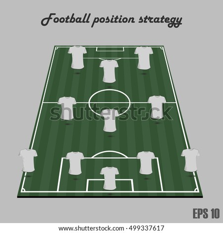 Soccer positions stock photos royalty free images for Soccer team positions template
