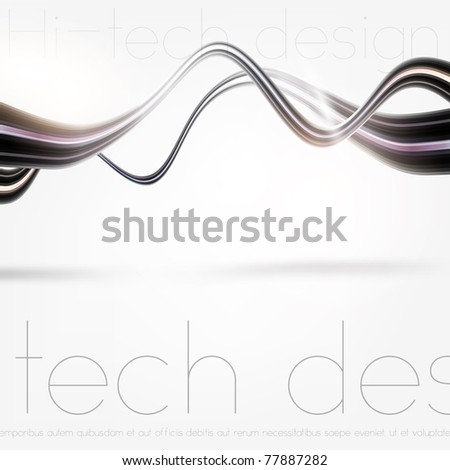 Eps10. Vector Fresh bright design idea with shining element to attract attention to your message. Fully editable. - stock vector