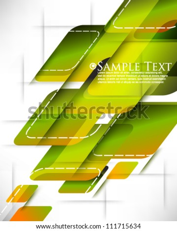 eps10 vector futuristic shapes background - stock vector