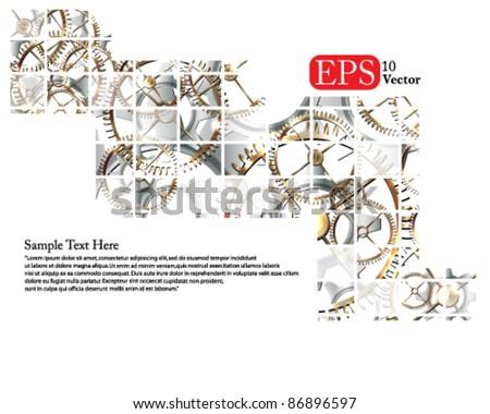 Eps10 Vector Gear Concept Background Design - stock vector