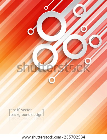 eps10 vector geometric diagonal lines with overlapping rings frame business background - stock vector